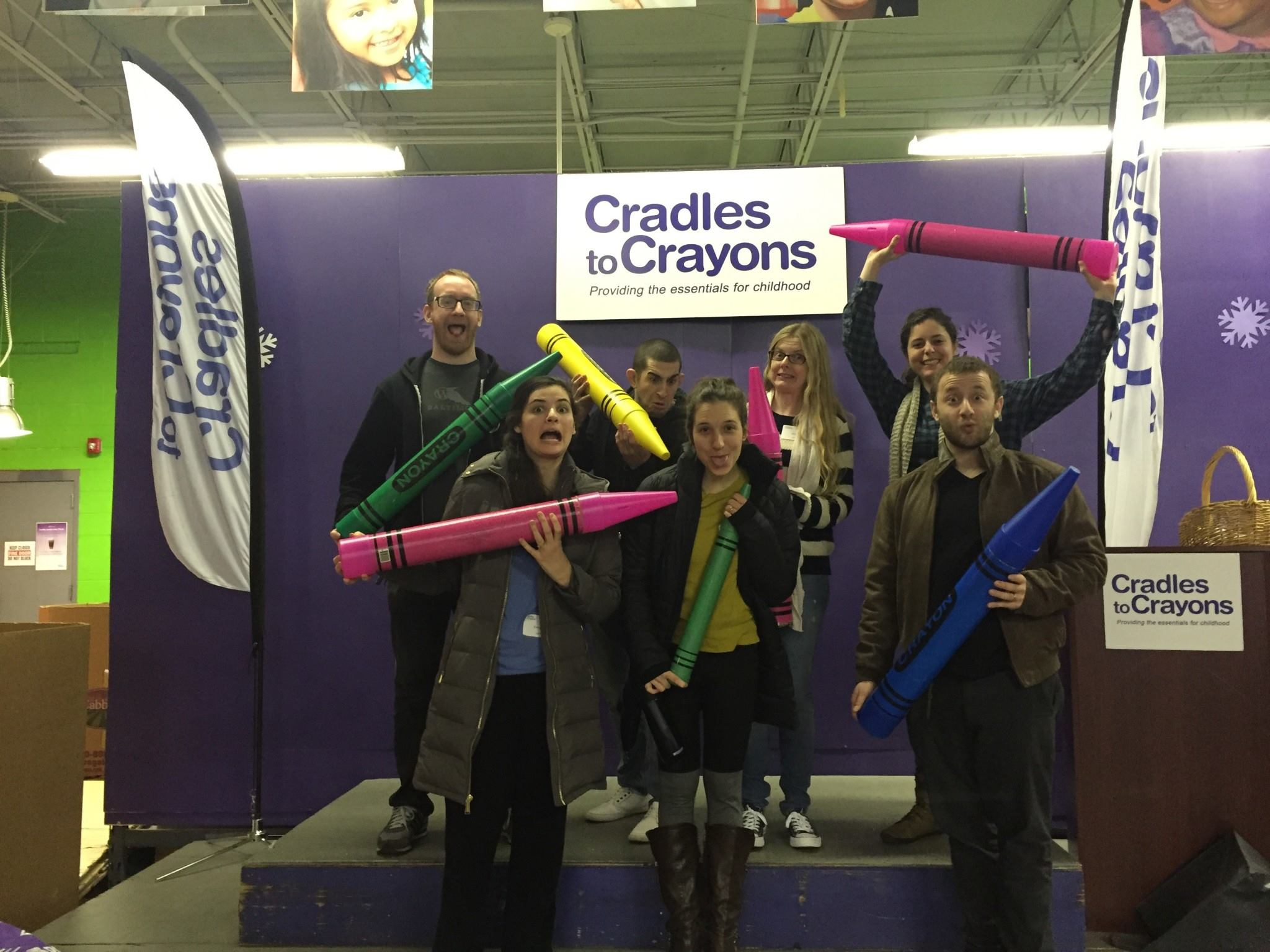 Volunteering with cradles to crayons