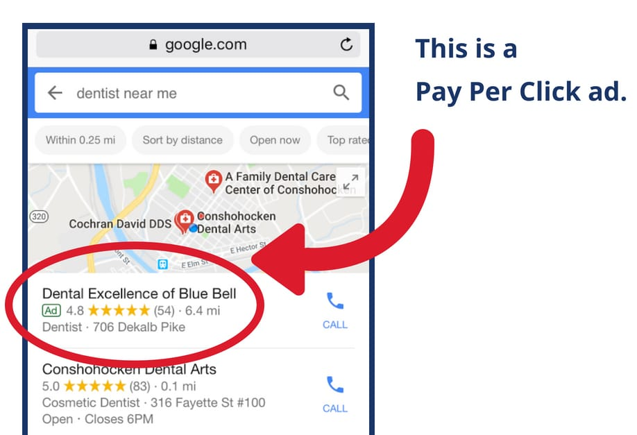 pay per click advertisement example
